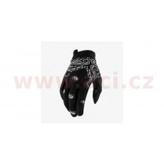 rukavice iTRACK, 100% - USA (černá/bílá)