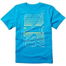 Dětské tričko Fox Racing Youth Scrim Shaw Ss Tee Electric Blue