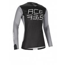 ACERBIS motokros dres MX J-RACEčerná/šedá