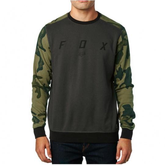 Pánská mikina Fox District Crew Fleece Black Vintage