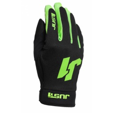 Moto rukavice JUST1 J-FLEX černo/neonově zelené