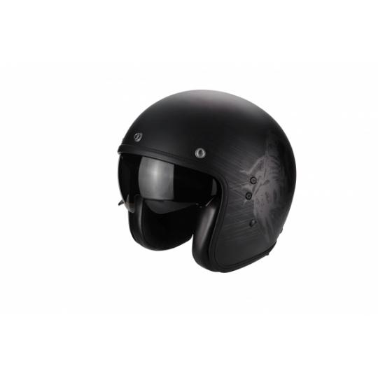 Moto přilba SCORPION BELFAST STING černá matná + kšilt