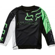 Dětský MX dres Fox Kids Skew Jersey Black/Green