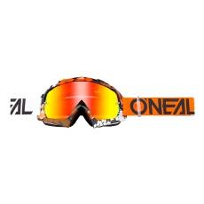 Brýle O´Neal B-10 PIXEL oranžová/bílá radium