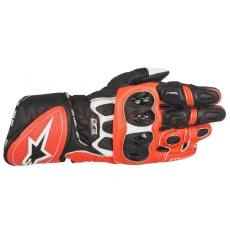 rukavice GP PLUS R, ALPINESTARS (červené fluo/bílé/černé)