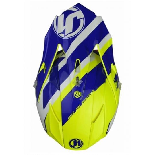 Kšilt JUST1 J32 PRO KICK bílo/modro/žlutý