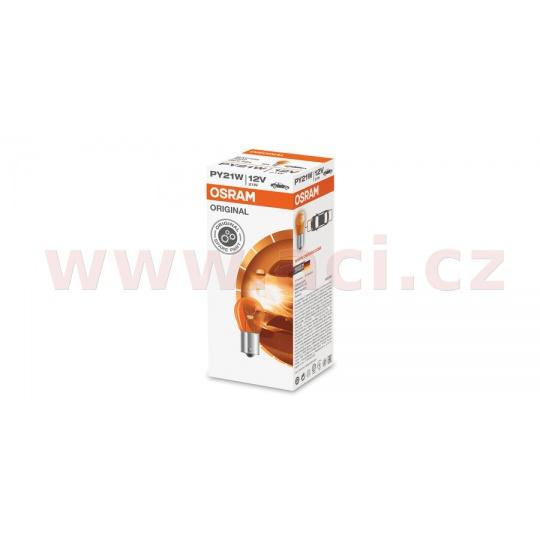 žárovka 12V 21W (patice BAU15s) oranžová OSRAM (sada 10 ks)