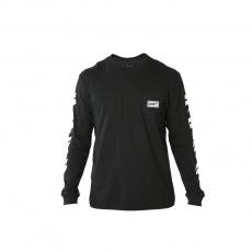 Pánské triko Shift Branded Ls Tee Black