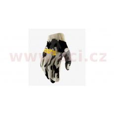 rukavice RIDEFIT, 100% - USA (šedá/camo)