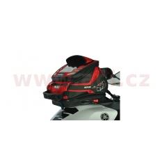 tankbag na motocykl Q4R QR, OXFORD (černý/červený, s rychloupínacím systémem na víčka nádrže, objem 4 l)