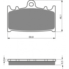 brzdové desky Mino jako GF 032