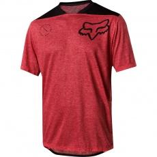 Pánský Cyklistický dres Fox Indicator ss Asym Jersey Red