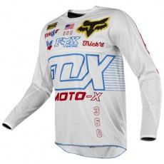 Pánský MX dres Fox Racing 360 RWT LE Jersey White/Red/Blue