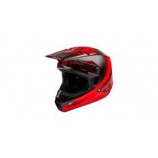 přilba KINETIC K120, FLY RACING (červená/černá)