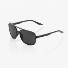 KASIA AVIATOR ROUND - Matte Black - Black Mirror Lens