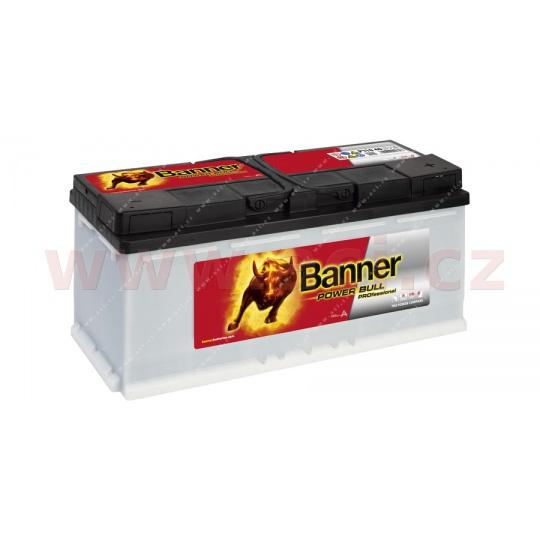 110Ah baterie, 900A, pravá BANNER Power Bull Professional 394x175x190
