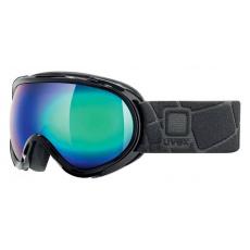 lyžařské brýle UVEX G.GL 7, black/litemirror green (2026)