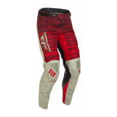 kalhoty KINETIC WAWE, FLY RACING - USA 2022 (světle šedá/červená)