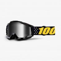 100% brýle motokrosové ACCURI Pistol - Mirror Silver Lens