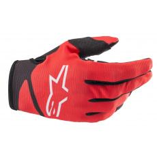 rukavice RADAR 2022, ALPINESTARS, dětské (červená/černá)