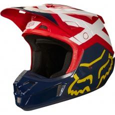 Pánská MX helma Fox V2 Preme Helmet, Ece Navy/Red