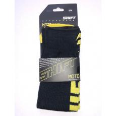 Dětské podkolenky Shift Youth Moto Sock Black/Yellow S/M