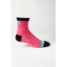 "Cyklo ponožky Fox 4"" Flexair Merino Sock Pink"