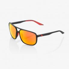 KONNOR AVIATOR SQUARE - Soft Tact Black - HiPER Red Multilayer Mirror Lens