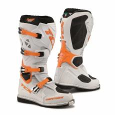 Moto boty TCX COMP EVO bílo/oranžové