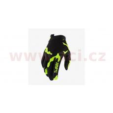rukavice ITRACK, 100% - USA (černá/fluo zelená)