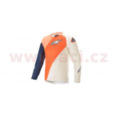 dres RACER BLAZE 2021, ALPINESTARS, dětský (oranžová/tmavě modrá/bílá)