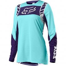 Dámský MX dres Fox Flexair Mach One Jersey Aqua