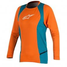 Alpinestars Stella Drop 2 L/S Jersey dres Bright Orange Ocean