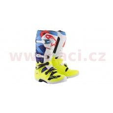 boty TECH 7 2020, ALPINESTARS (žluté fluo/světle modré/modré/červené/černé)