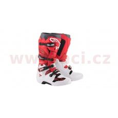 boty TECH 7 2021, ALPINESTARS (bílá/červená/vínová)