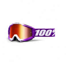ACCURI Youth Goggle Framboise - Mirror Red Lens