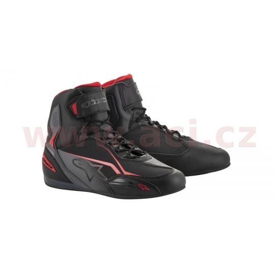 boty FASTER-3, ALPINESTARS (černé/šedé/červené)