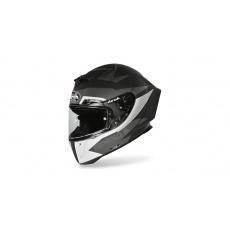přilba GP 550S VECTOR, AIROH (černá/bílá/stříbrná-matná) 2021