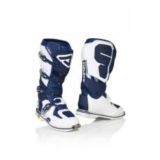 ACERBIS motokros boty X-ROCKbílá/modrá