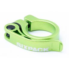 Sedlová objímka Sixpack Menace 34,9 mm zelená