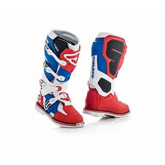 ACERBIS motokros boty X-ROCK červená/modrá
