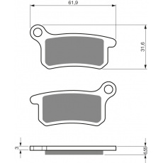 brzdové desky Delta jako GF 185