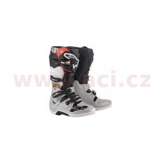 boty TECH 7 2022, ALPINESTARS (černá/stříbrná/bílá/zlatá)
