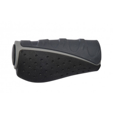 gripy ERGO pro řazení Gripshift, OXFORD (šedé/černé, trojkomponentní, délka 91 mm, 1 pár)