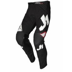Moto kalhoty JUST1 J-FLEX ARIA černo/bílé