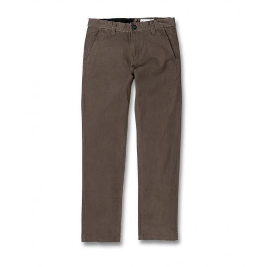 Dětské kalhoty Volcom Frickin Slim Chino Major Brown
