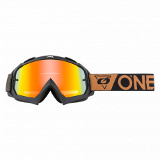 Brýle O´Neal B-10 SPEEDMETAL černá/hnědá radium červená