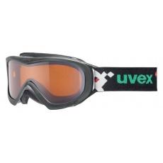 lyžařské brýle UVEX WIZZARD DL, black pacman double lens/lasergold (2722)