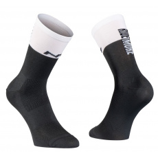 Cyklo ponožky Northwave Work Less Ride More Sock Black/White