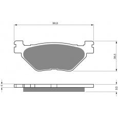 brzdové desky Mino jako GF 165